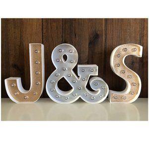Heidi Swapp Alphabet LED Letter J & S Customized